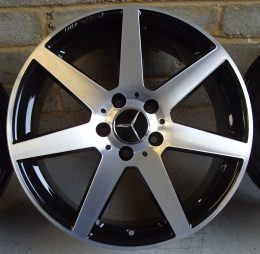 Mercedes OEM - AMG 7 Spoke (Black Diamond Cut)