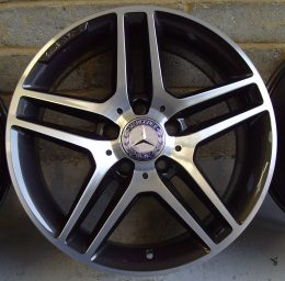 Mercedes OEM - AMG 5 Twin Spoke (Grey Diamond Cut)