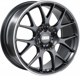 BBS - CH-R (Satin Black with Stainless Steel Rim Protector)
