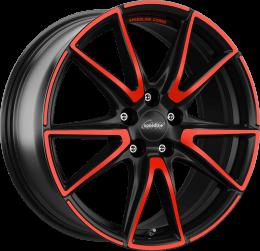 Ronal - SL6 Vettore MCR (Jet Black Matt Red Spoke)
